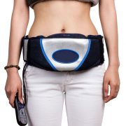vibration exercise belt in use