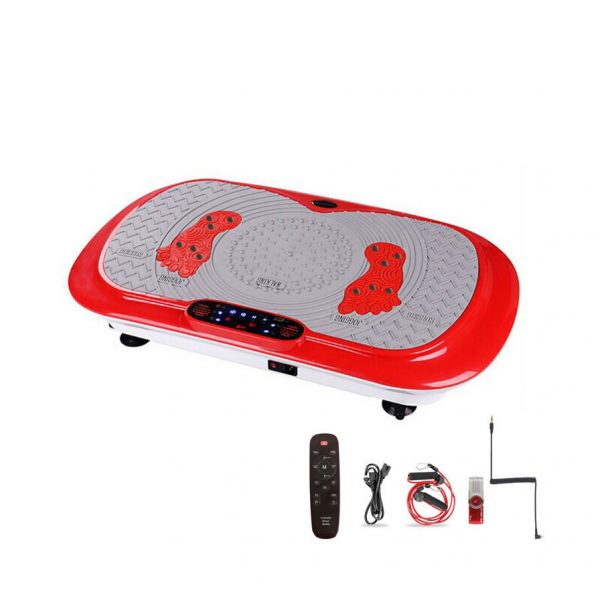 ultra thin vibration plate red with accessories