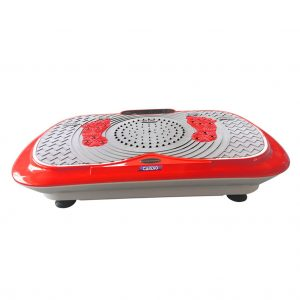 ultra thin vibration exercise plate in bright red