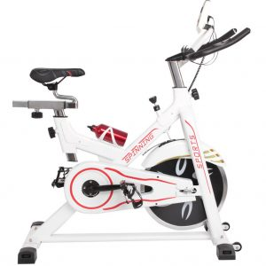 spin bike white side view